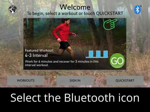 Connecting Bluetooth® Headphones to the Precor Touchscreen
