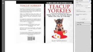 Teacup Yorkies Book - Includes Miniature Yorkshire Terriers, Toy, Micro Or Mini Yorkies