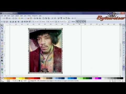 Byteweiser Inkscape Tutorial #10:  Make a US Postal Stamp