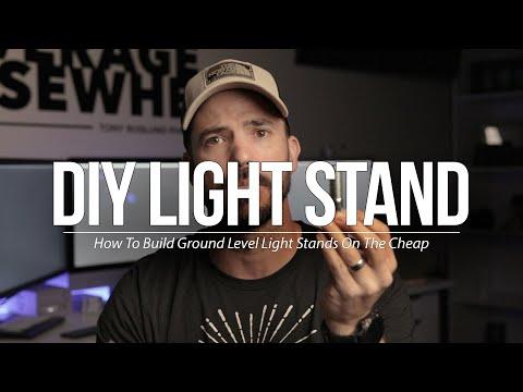 DIY Lighting Stands