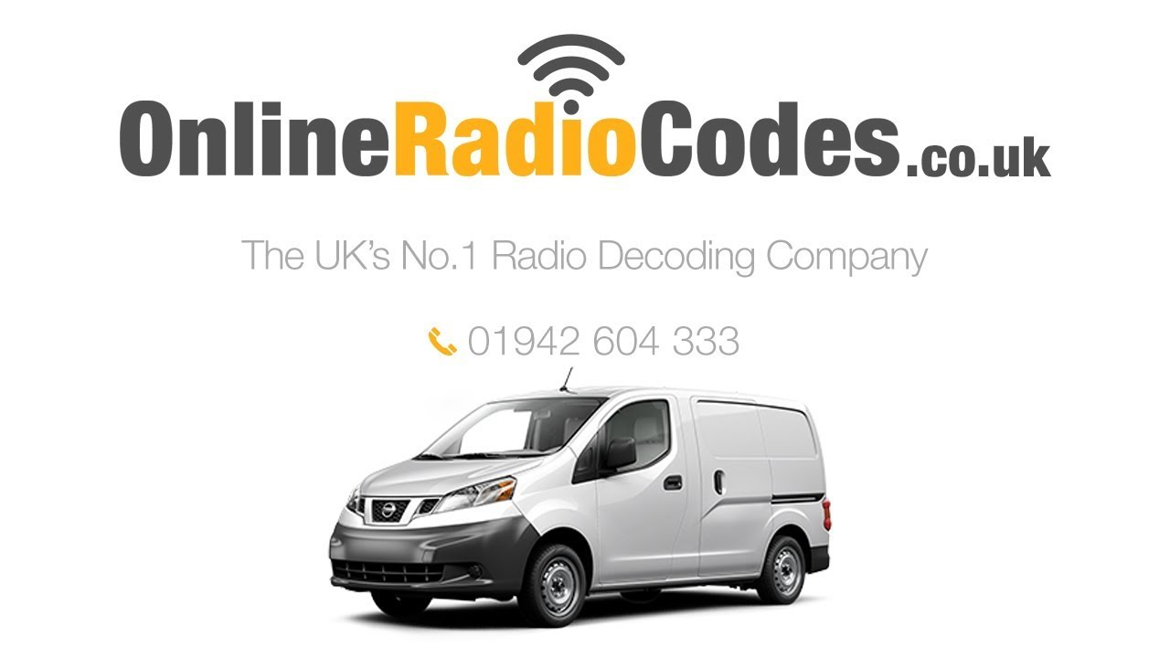 nissan nv200 radio code stereo pin unlock codes youtube. Black Bedroom Furniture Sets. Home Design Ideas