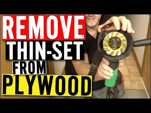 Remove THINSET from PLYWOOD - Easy & Fast with Cup Wheel Grinder Blade & Dust Shroud