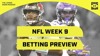 Week 9 NFL Betting & Fantasy Preview with Warren Sharp | The Lefkoe Show