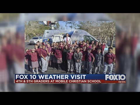 FOX10 Weather School visit at North Mobile Christian School