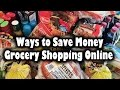 Ways to Save Money Grocery Shopping Online