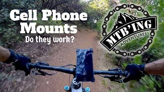 Cell Phone Mount Test (Auburn, CA) Mountain Biking