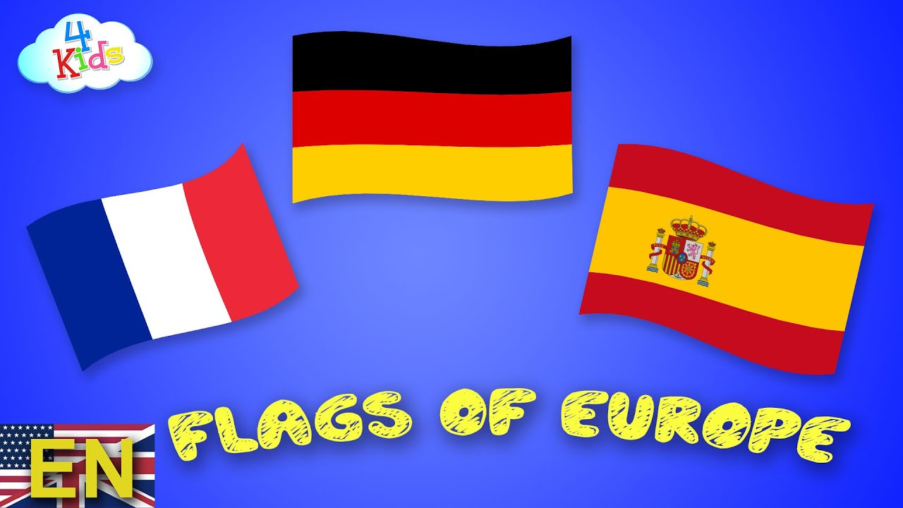 all flags and countries of europe learning for children and