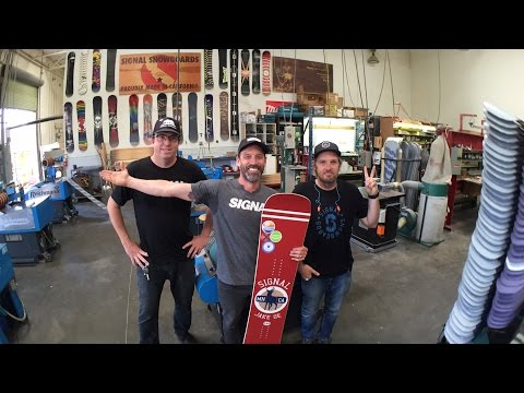 Signal Snowboards Factory Tour With Dave Lee and Eddie Wall