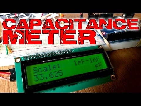 Arduino capacitane meter with LCD screen