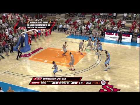 NCAA Basketball 10 (PS3) North Carolina Vs. Ohio State ESPN