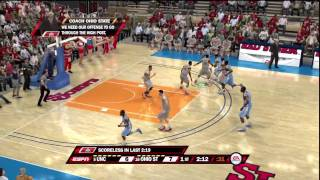 NCAA Basketball 10 (PS3) North Carolina vs. Ohio State ESPN