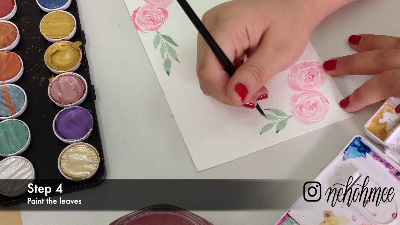 Easy to create - Floral Watercolour Frame Border - YouTube