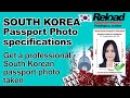 South Korean Passport photo specifications & Visa Photos for South Korea snapped in Paddington