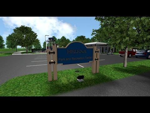 Helena Park Renovation - Rendered in Realtime Landscape Architect