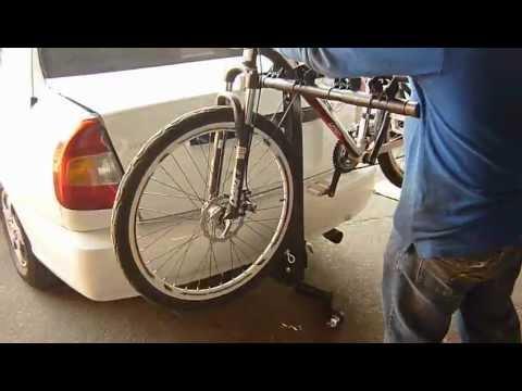 Porta bicicletas para vehiculo con enganches americanos for Como guardar bicis en un piso