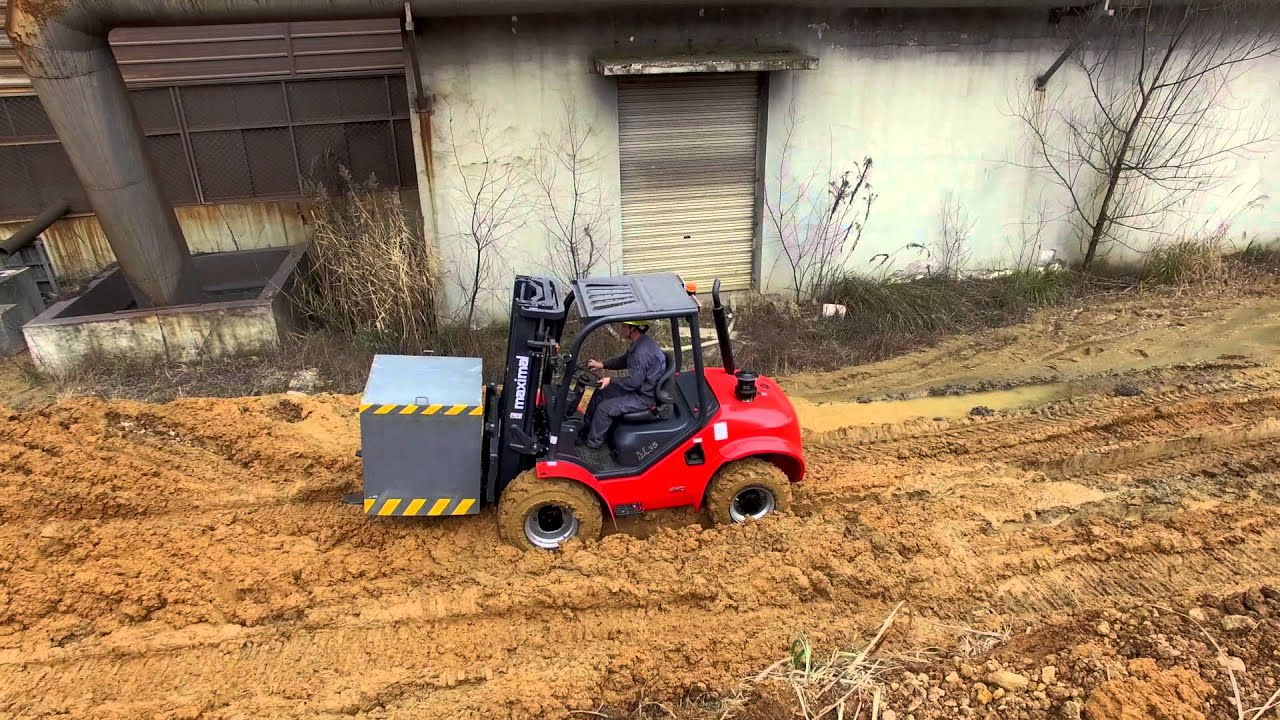 Maximal Compact 4wd Rough Terrain Forklift Youtube