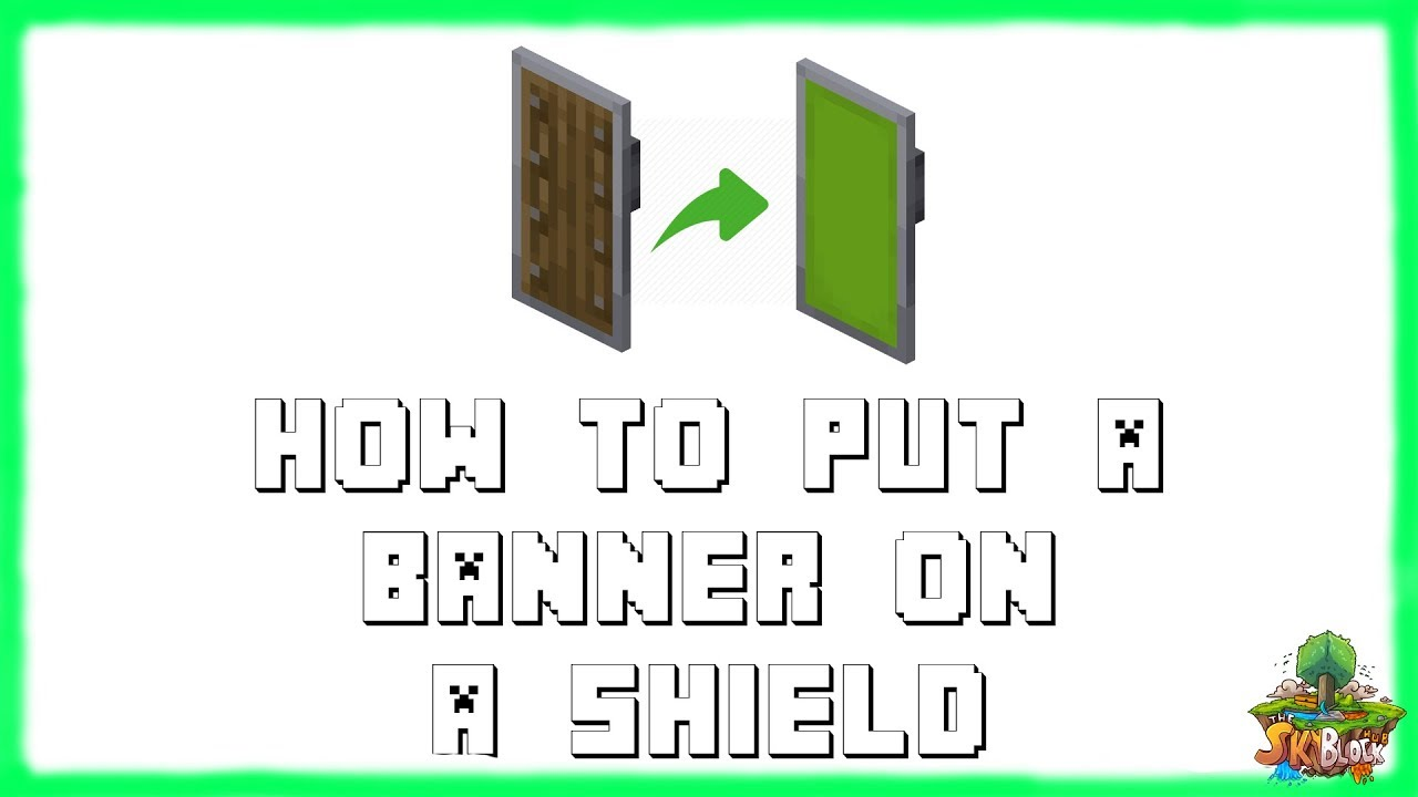 Minecraft How To Put A Banner On A Shield In Minecraft 2020 Youtube