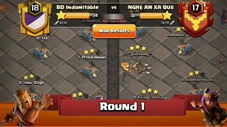 Clan War Leagues - TH12 Attacks - Clash Of Clans - Round 1 (Season 3)
