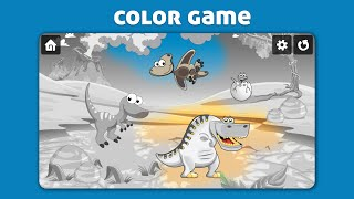 Kids Dinosaur scratch & color game - Fun casual game for boys and girls of any age