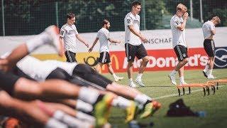 Abschlusstraining vor dem Test gegen Österreich