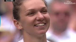 Simona Halep stuns Serena Williams to win first Wimbledon title