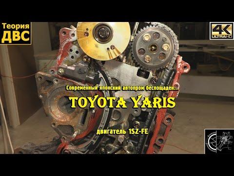 Фото к видео: Современный японский автопром беспощаден... Toyota Yaris, двигатель 1SZ-FE