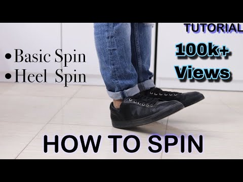 How To Spin Properly   Basic Spin & Heel Spin   Basic Dance Moves For Beginners