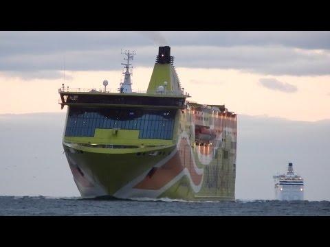 Three Tallink's ships in Tallinn