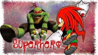 Superhero~Raphael and Knuckles The Echidna :D