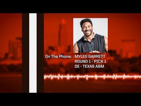 2017 Draft: Myles Garrett Conference Call