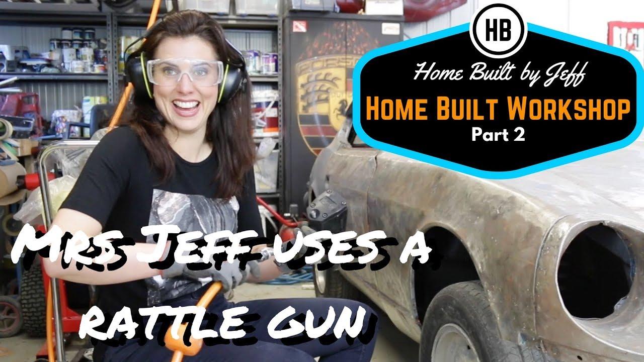 Mrs Jeff Uses A Rattle Gun Home Built Workshop 2