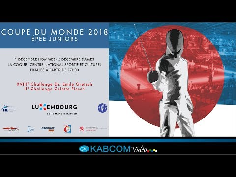 COUPE DU MONDE - EPEE DAMES JUNIORS - LUXEMBOURG 2018
