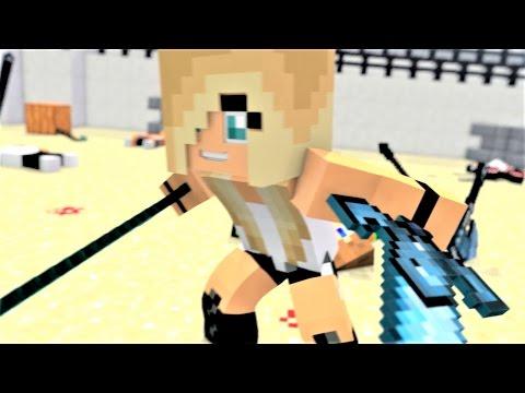 "Minecraft Song ""Tough Girls"" Psycho Girl 5 - Psycho Girl VS Herobrine Minecraft Song"