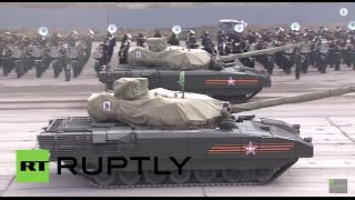 Russia: See top-secret Armata T-14 tanks rev up for Moscow's V-Day parade