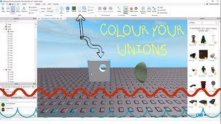 How to change the colour of Unions in Roblox Studio!