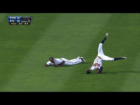 Upton brothers collide, B.J. makes catch