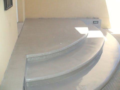 Escaleras con microcemento youtube for Cemento pulido exterior