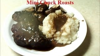 Red Wine Braised Mini Chuck Roasts