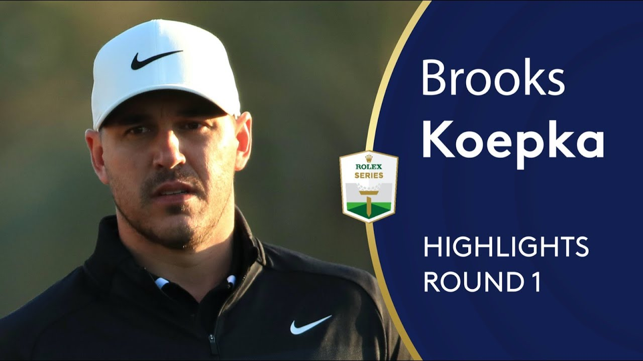 World Number One Brooks Koepka's first round back after injury | Abu Dhabi HSBC Golf Championsh
