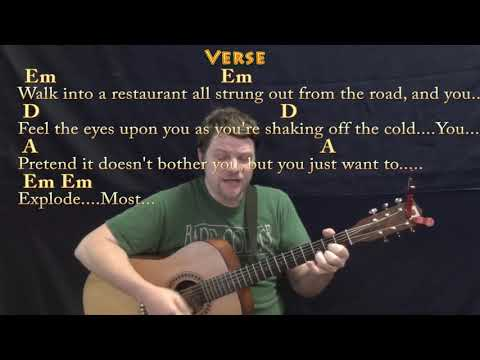 Turn the Page (Bob Seger) Guitar Cover Lesson with Chords/Lyrics - Munson