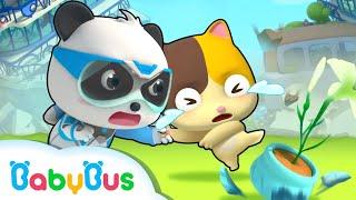 Run! The Building is Collapsing | Super Panda Rescue Team 7 | Kids Cartoon | Baby Songs | BabyBus