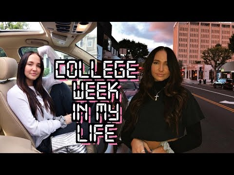 college week in my life | first week of classes, what i eat, staying fit in college