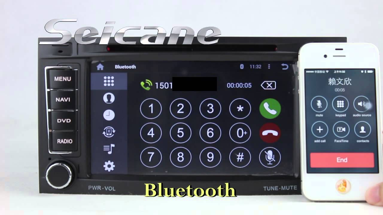 2003 2004 2005 2011 vw touareg radio stereo removal upgrade to android 4 4 navigation dvd head unit youtube [ 1280 x 720 Pixel ]