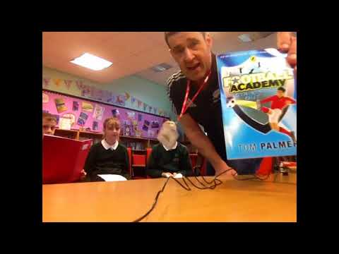Market Drayton pupils interview about the Football Academy series