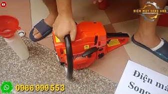 Chạy thử máy cưa xích Bgas 5200