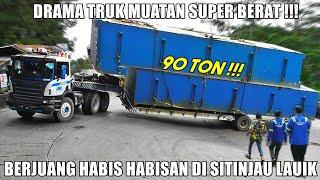 Download VIRAL !!! Truk Berjuang Habis Habisan, Drama Truk Muatan 90 Ton di Tanjakan Sitinjau Lauik