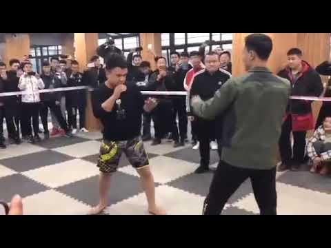 刘俊散打私人赛,很真实的比赛