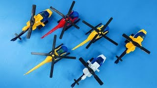 Colors for Children to Learn with Colorful Helicopter Air Vehicles  for kids with Learn Color