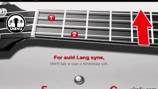 Auld Lang Syne - Ukulele Christmas Song Tutorial, Chords, Lyrics, Strummingpattern, Folk Song