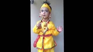 Cute Baby Dressed Up As Lord Krishna